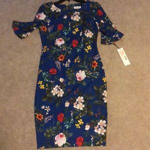 NWT Calvin Klein Floral Dress